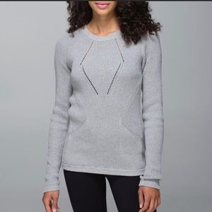 "Lululemon Heathered Gray ""The Sweater The Better"""